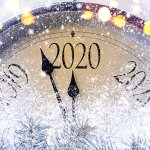 Photo of clock with years instead of hours to indicate the New Year
